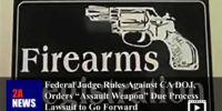 "Federal Judge Rules Against CA DOJ, Orders ""Assault Weapon"" Due Process Lawsuit to Go Forward"