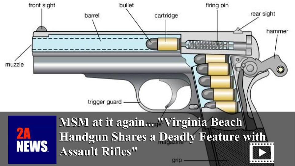 "MSM at it again… ""Virginia Beach Handgun Shares a Deadly Feature with Assault Rifles"""
