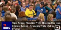Stem School Shooting Vigil Hijacked by Gun Control Group – Students Walk Out in Protest