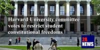 Harvard University committee votes to restrict student constitutional freedoms