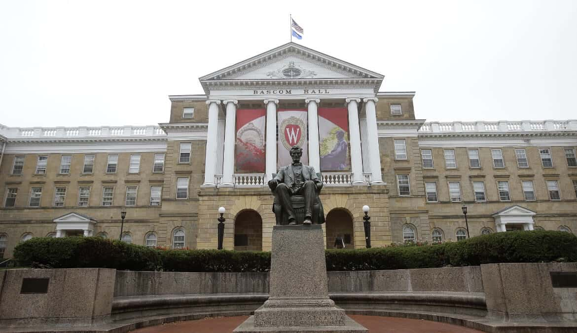 Bascom Hall on the campus of the University of Wisconsin in Madison, Wisconsin.