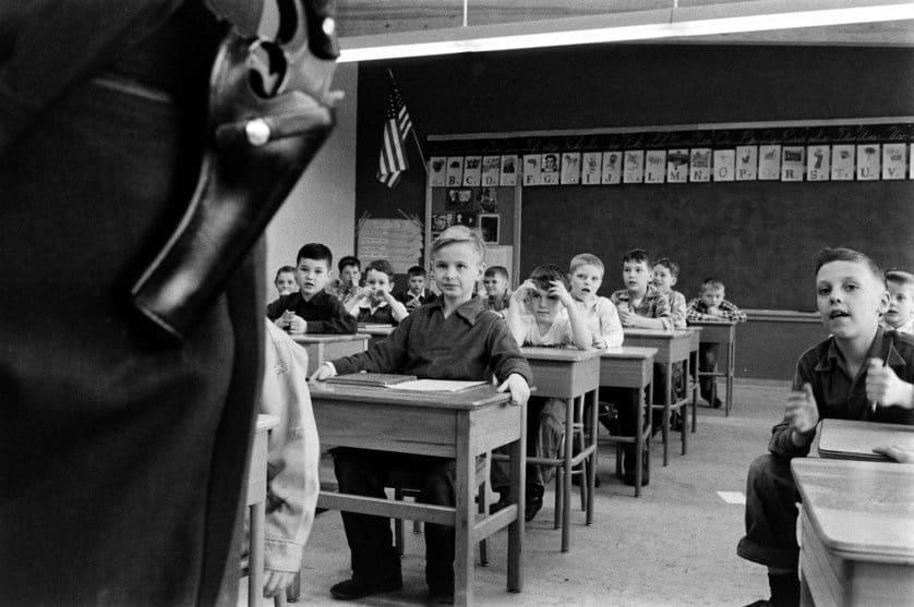 Gun safety instruction, Indiana, 1956