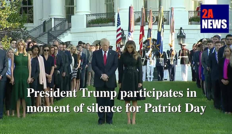 PresidentDonaldTrumpandFirstLadyMelaniaTrumpparticipateinamomentofsilenceinremembranceofPatriotDay,Sept,